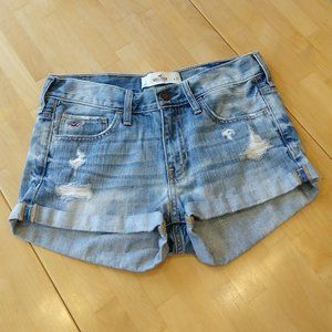 Hollister Distressed Stretch Jean Shorts